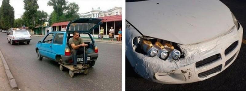 GENIAL : Les pires réparations automobiles 24