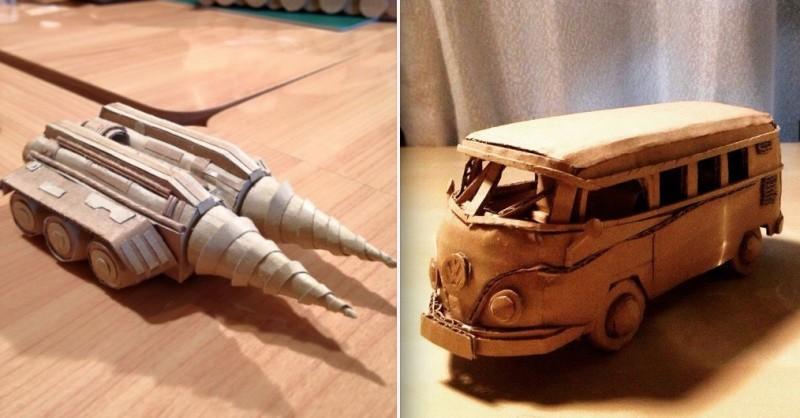 Cette artiste transforme les cartons en oeuvre d'art 14