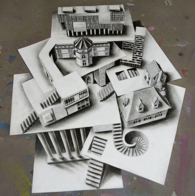 Illusion D Optique Ces Dessins Ont L Air De Sculptures