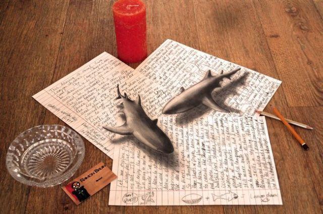 Illusion d'optique : ces dessins ont l'air de sculptures ! 12