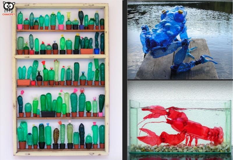 ART DECO : Les bouteilles plastiques se transforment. 15
