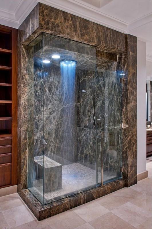 28 douches qui vous donneront envie de changer votre salle de bain - Douche dans la chambre ...