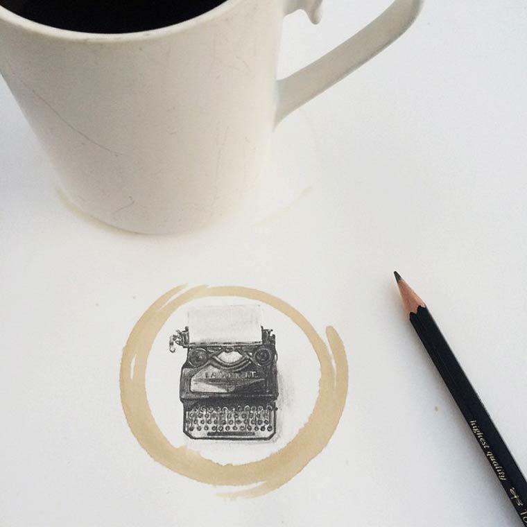 Tâche de café1