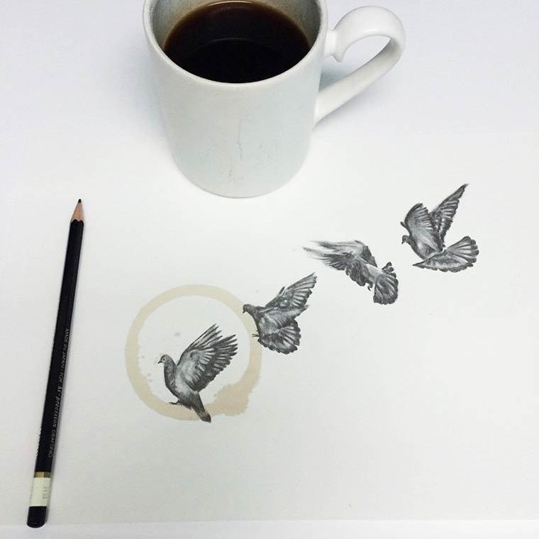 Tâche de café13