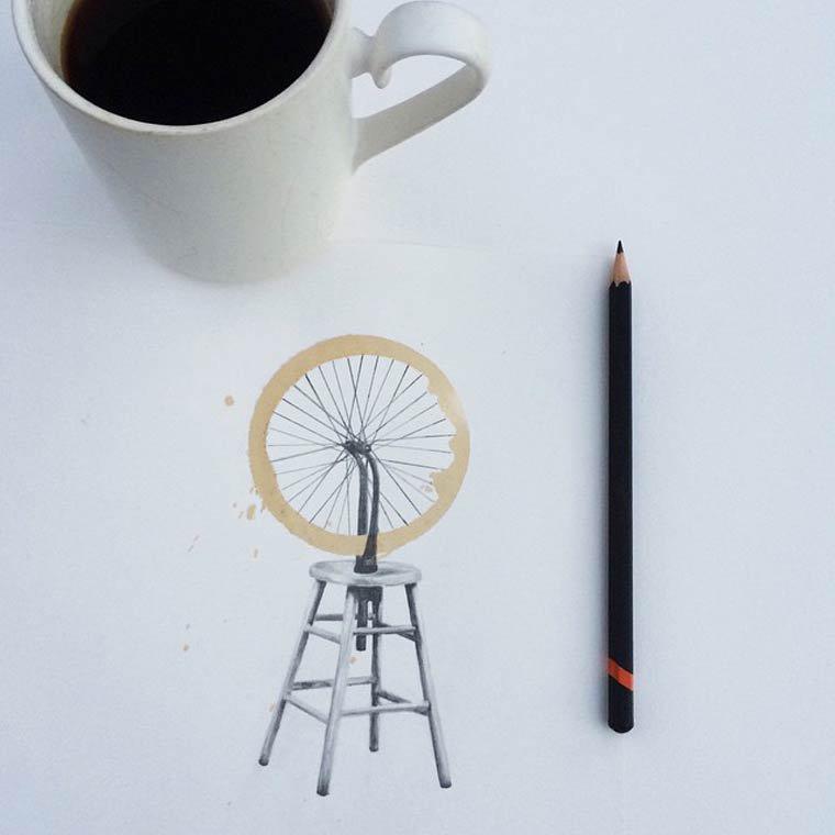 Tâche de café insolite