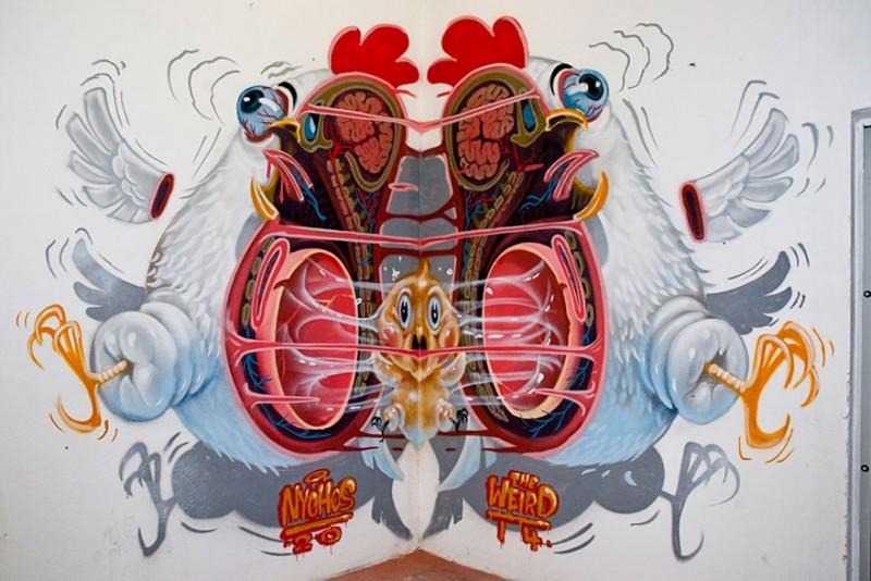 STREET ART : ces personnages de dessins animés révèlent leur anatomie 2