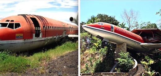 INSOLITE : Un Boeing 727 transformé en maison de luxe ! 13