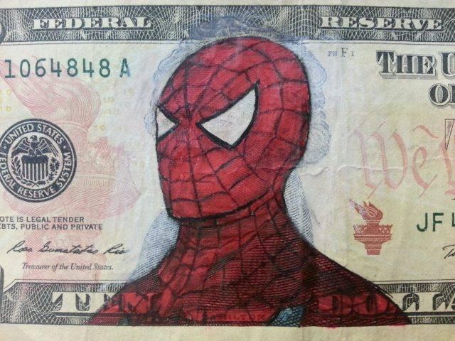 Des super-héros sur des billets de banque. 3