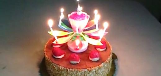 Le gâteau d'anniversaire nouvelle génération.