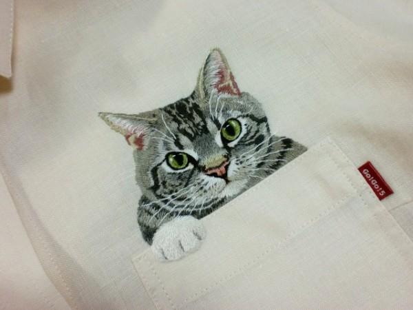 Découvrez le chat brodé 1