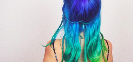 cheveux arc en ciel