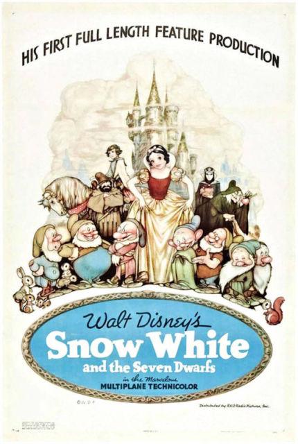 Les 15 premières affiches de dessins animés Disney 1