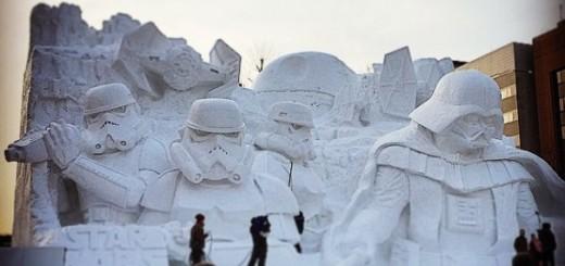Découvrez cette impressionnante sculpture de neige sur le thème de Star Wars 6