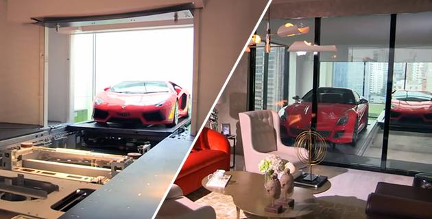 Le comble du luxe : pouvoir admirer sa voiture de son salon ! 1