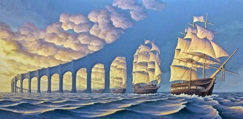 Les incroyables illusions d'optique de Rob Gonsalves 2