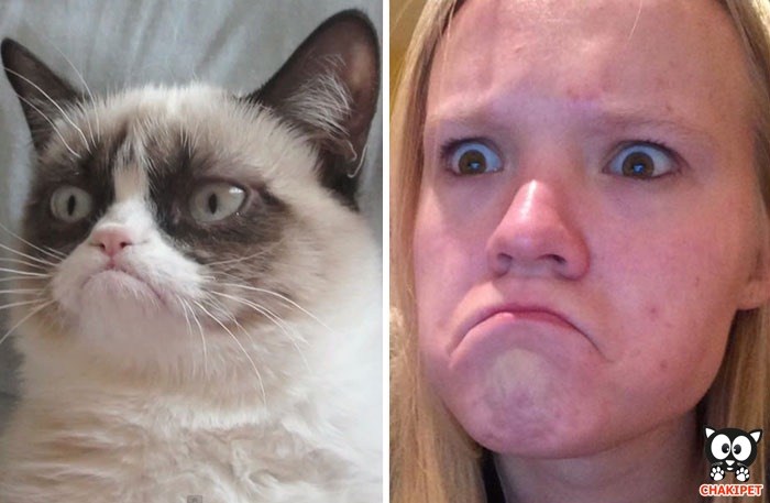 Cette fille imite les expressions faciales de personnages célèbres 18