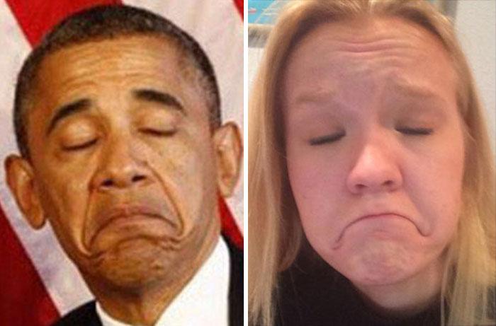 Cette fille imite les expressions faciales de personnages célèbres 5