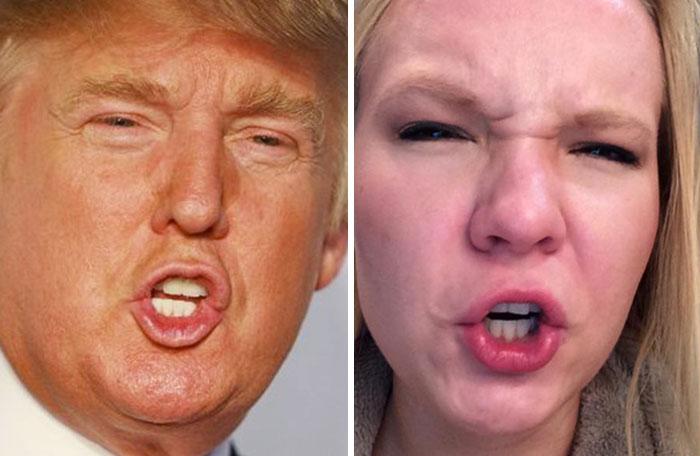 Cette fille imite les expressions faciales de personnages célèbres 4