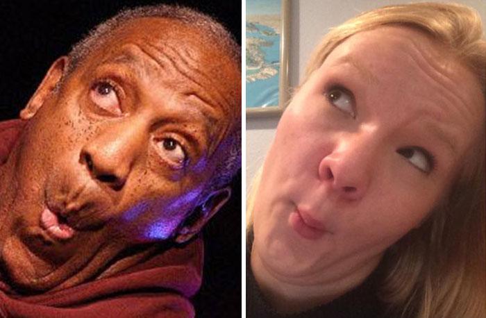 Cette fille imite les expressions faciales de personnages célèbres 8