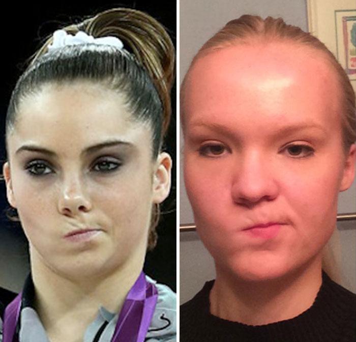 Cette fille imite les expressions faciales de personnages célèbres 7