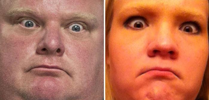 Cette fille imite les expressions faciales de personnages célèbres 17