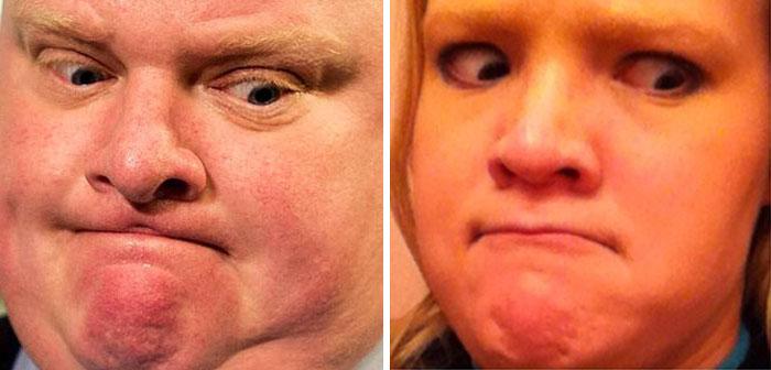 Cette fille imite les expressions faciales de personnages célèbres 14