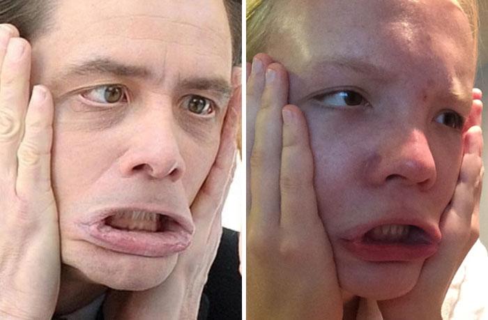 Cette fille imite les expressions faciales de personnages célèbres 6