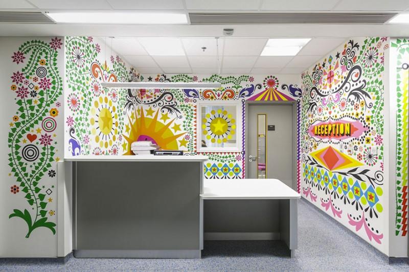 A LONDRES : 15 artistes font de l'hôpital pour enfants un endroit coloré et confortable 1