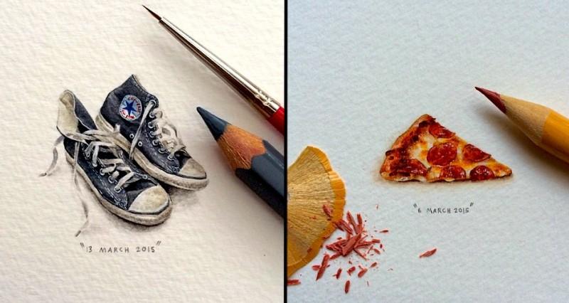 Les incroyables MINUSCULES peintures de Lorraine Loots 15