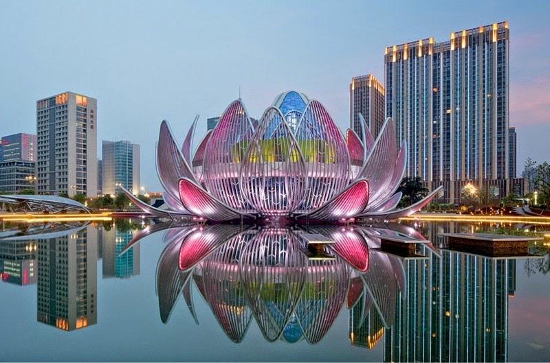 CHINE : visitez le magnifique Lotus Building 2