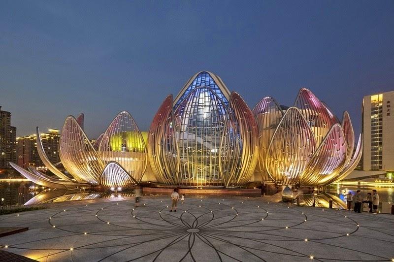 CHINE : visitez le magnifique Lotus Building 4