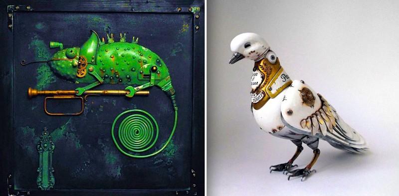 15 sculptures en métal très originales 16