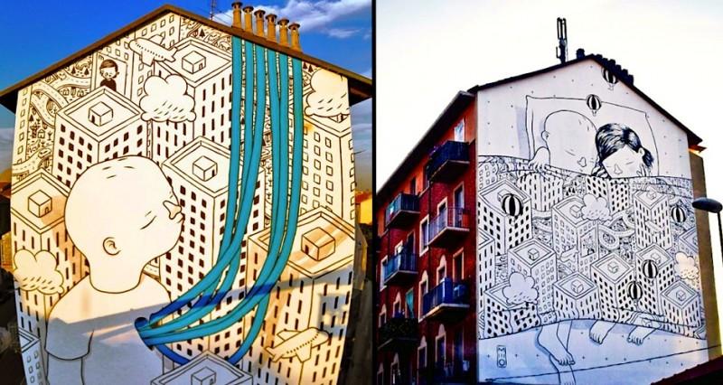 ART : les gigantesques fresques murales de Millo 11