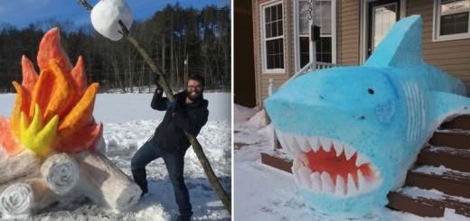 Les 25 plus belles sculptures de neige 28