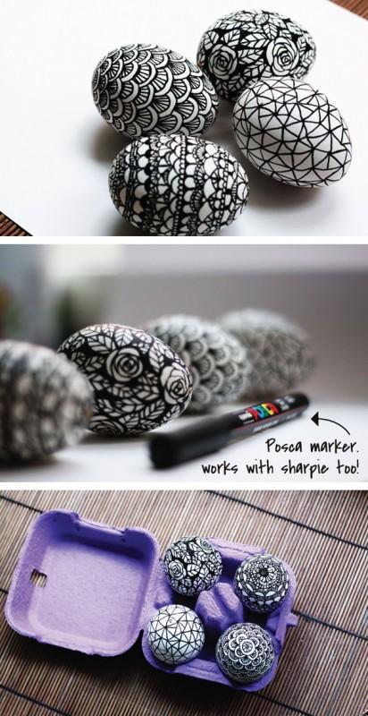 20 idées créatives pour décorer des oeufs de pâques 20