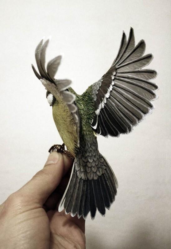 ces magnifiques oiseaux ont t con us avec du papier. Black Bedroom Furniture Sets. Home Design Ideas