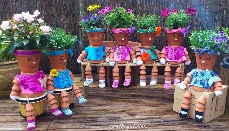 Assez INSOLITE : des personnages en pots ! KP15