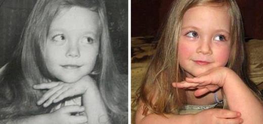 20 photos de parents et leurs enfants au même âge 9