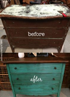 Avant apres donnez une seconde vie vos anciens for Retaper un meuble