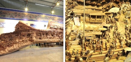 IMPRESSIONNANT : une sculpture sur bois de 12 mètres ! 8
