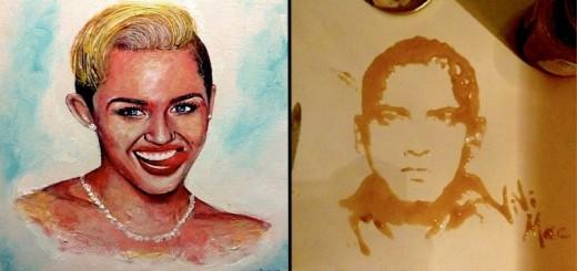 INSOLITE : des portraits de célébrités faits à partir de drôles de choses 27