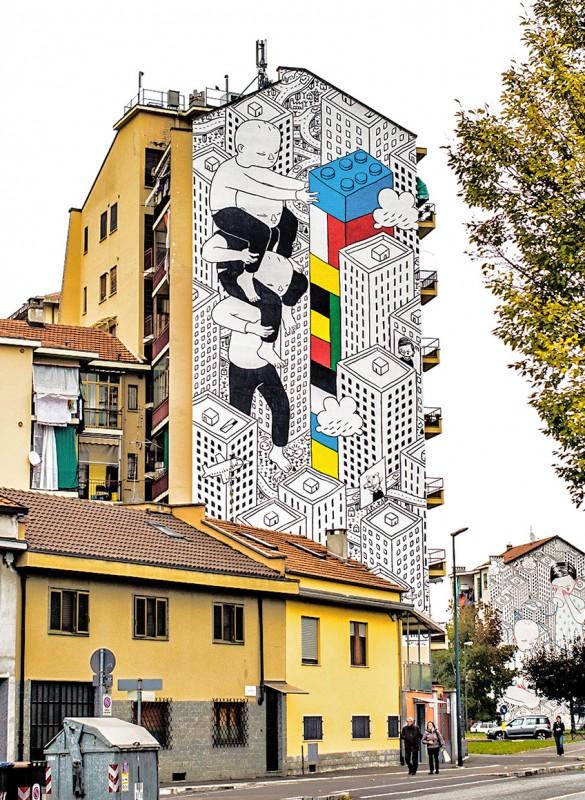 ART : les gigantesques fresques murales de Millo 1