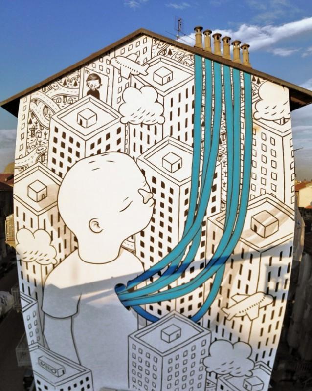 ART : les gigantesques fresques murales de Millo 4