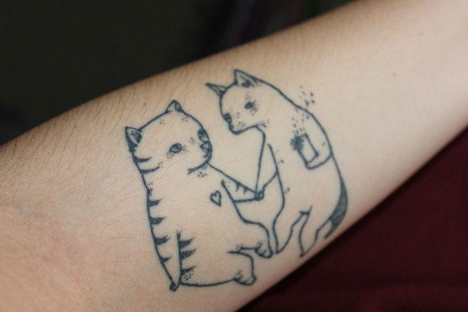 15 magnifiques tatouages de chats. Black Bedroom Furniture Sets. Home Design Ideas