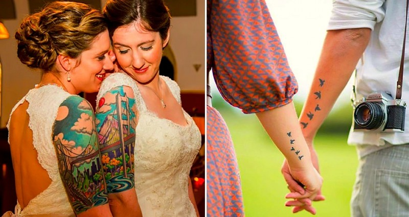 les 18 plus beaux tatouages de couples. Black Bedroom Furniture Sets. Home Design Ideas