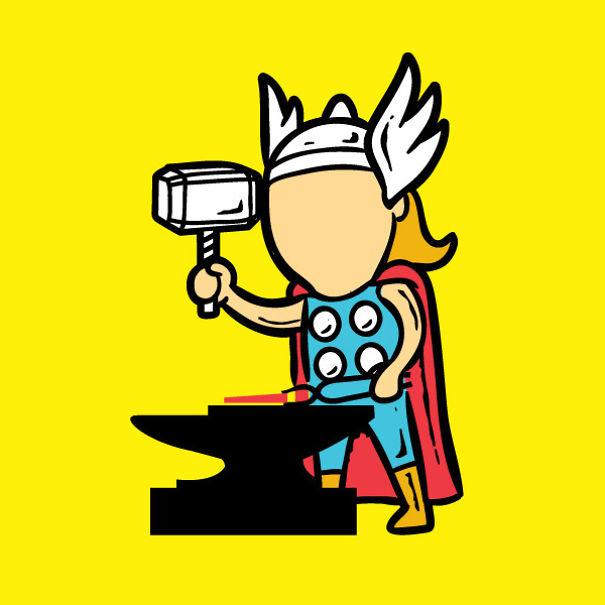 travail super héros 4