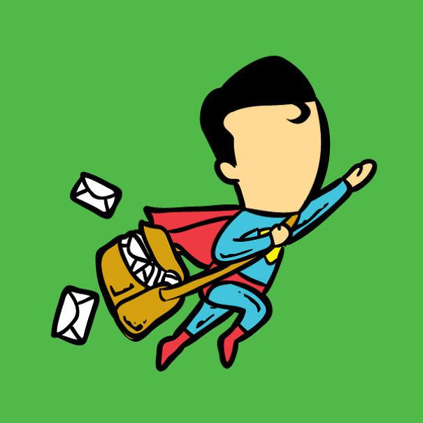 travail super héros 5