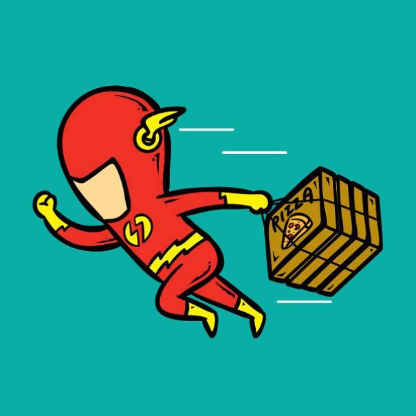 travail super héros 9